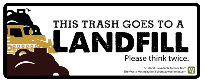 This trash goes to a landfill trash can decal.png